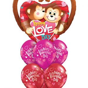 We Like To Party Happy Love Day Balloon Bouquet