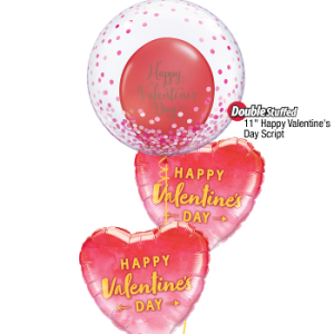 We Like To Party Valentine Confetti Balloon Bouquet