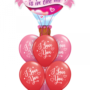We Like To Party Love Is In The Air Balloon Bouquet