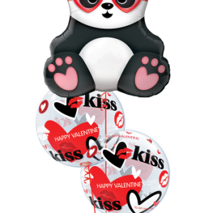 We Like To Party Valentine Panda Balloon Bouquet
