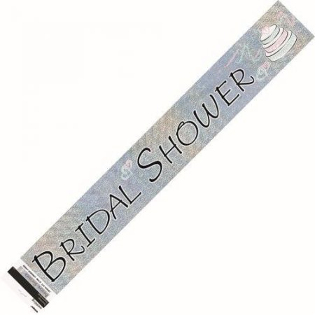 We Like To Party Bridal Shower Holographic Foil Banner