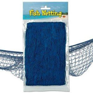 We Like To Party Fish Netting Blue