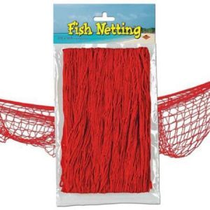 We Like To Party Fish Netting Red