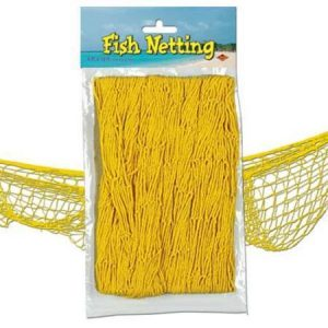 We Like To Party Fish Netting Yellow
