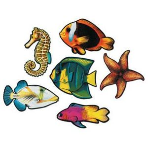 We Like To Party Tropical Fish Double Sided Cutouts