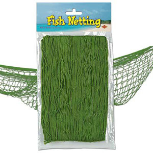 We Like To Party Fish Net Green