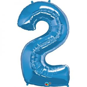 We Like To Party Megaloon Number 2 Blue Balloon