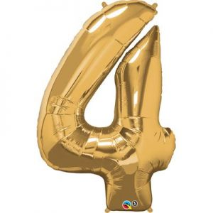 We Like To Party Megaloon Number 4 Gold