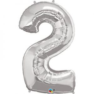 We Like To Party Megaloon Number 2 Silver Balloon