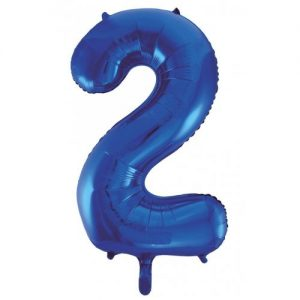 We Like To Party Megaloon Number 2 Dark Blue Balloon