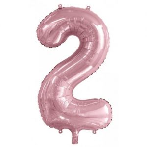 We Like To Party Megaloon Number 2 Light Pink Balloon