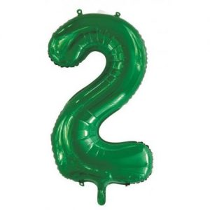 We Like To Party Megaloon Number 2 Green Balloon