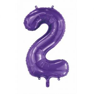 We Like To Party Megaloon Number 2 Purple Balloon