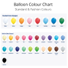 We Like To Party Standard & Fashion Latex Balloon Colour Chart
