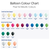 We Like To Party Pearl & Metallic Latex Balloon Colour Chart