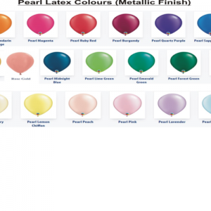 We Like To Party Pearl Latex Balloon Colour Chart