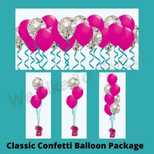 We Like To Party Classic Confetti Balloon Package