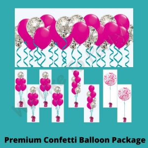 We Like To Party Premium Confetti Balloon Package