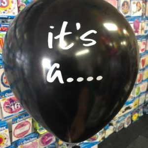 We Like To Party Small Gender Reveal 25cm Balloon