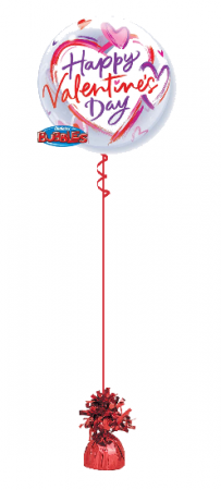 We Like To Party Happy Valentines Day Heart Balloon Bubble on weight