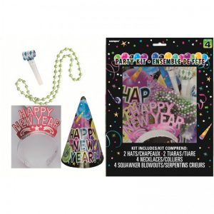 We Like To Party New Year Celebration Party Kit for 4