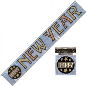 We Like To Party Fringe Prismatic New Year Foil Banner