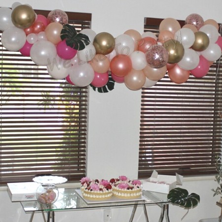 We Like To Party Organic Balloon Garland Standard Style