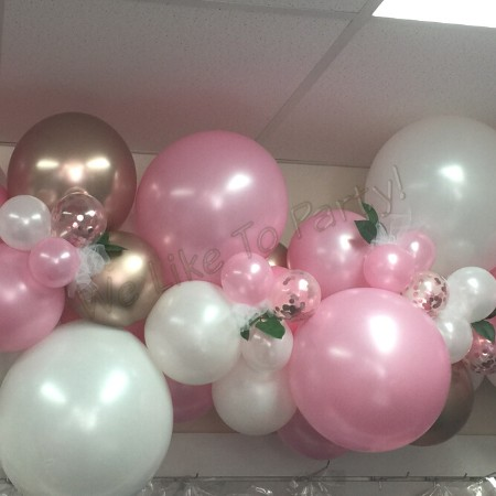 We Like To Party Organic Balloon Garland Deluxe Style