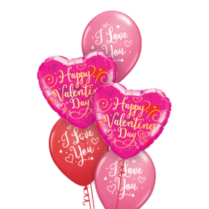We Like To Party I Love You Valentines Day Balloon Bouquet