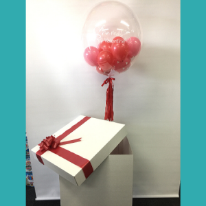 We Like To Party Gumball Bubble Balloon In A Box Personalised With Your Message