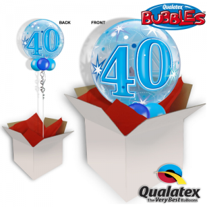 We Like To Party 40th Birthday Blue Bubble In A Balloon