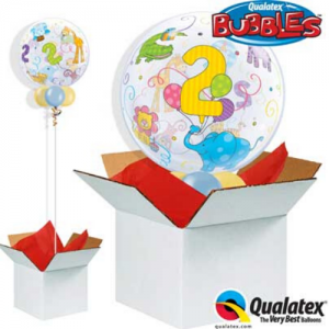We Like To Party Age 2 Jungle Animals Bubble Balloon In A Box