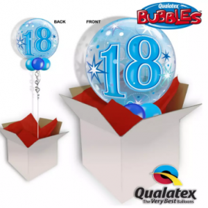 We Like To Party 18th Birthday Blue Bubble Balloon In A Box