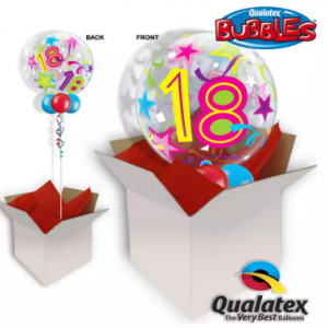 We Like To Party 18th Birthday Multicolour Bubble Balloon In A Box