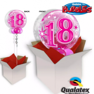 We Like To Party 18th Birthday Pink Bubble Balloon In A Box
