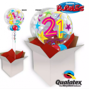We Like To Party 21st Birthday Multicolour Bubble Balloon In A Box