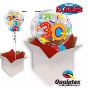 We Like To Party 30th Birthday Multicolour Bubble Balloon In A Box