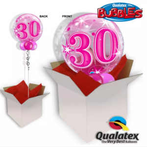 We Like To Party 30th Birthday Pink Bubble Balloon In A Box