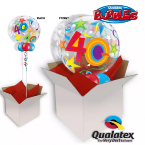 We Like To Party 40th Birthday Multicolour Bubble Balloon In A Box