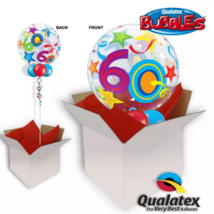 We Like To Party 60th Birthday Multicolour Bubble Balloon In A Box