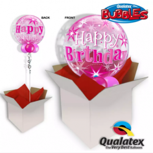 We Like To Party Happy Birthday Pink Bubble Balloon In A Box