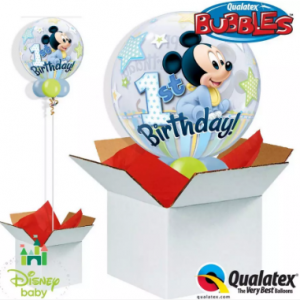 We Like To Party Mickey 1st Birthday Bubble Balloon In A Box