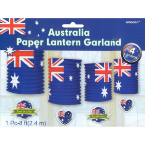 We Like To Party Australia Paper Lantern Garland 4pk