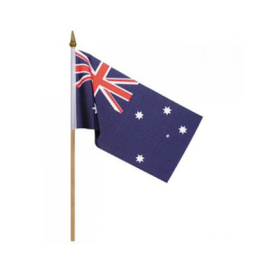 We Like To Party Australian Flag 45 x 30cm on 62cm stick