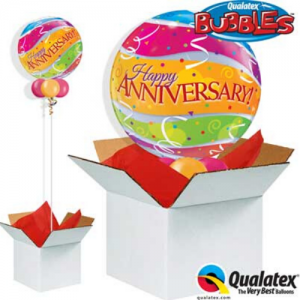 We Like To Party Anniversary Colourful Band Bubble Balloon In A Box