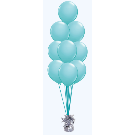 We Like To Party Floor Balloon Bouquet of Nine with Hifloat