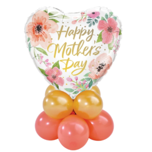 We Like To Party Mothers Day Pink Floral Table Mini Balloon Centerpiece