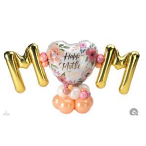 We Like To Party Floral Pink Mini Letters Table Centerpiece
