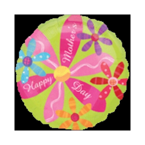 """We Like To Party Mother's Day Pink Flower 18"""" (45cm) Foil Balloon"""