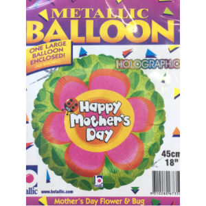"""We Like To Party Mother's Day Flower & Bug 18"""" (45cm) Foil Balloon"""